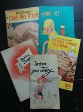 Cook Book Booklet Lot of 5 Swans Down Knox Gel It Cake Magic Butter Cookies 1943