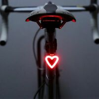 New Fashion Rechargeable Bike Tail Light LED Bicycle Warning Safety Rear Lamps