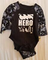 BOYS INFANT DC COMICS BATMAN HERO BLACK WHITE SIZE 3-6 MONTHS 2 PACK CREEPER NWT
