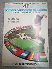 CARTOLINA VIAREGGIO 41 coppa CARNEVALE 1989 calcio football postcard Cup vintage