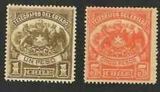 Chile Revenue Telegraph Telegrafos 1p/5p  MH