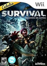 Cabela's Survival Shadows of Katmai WII NEW! HUNT, BEARS, WOLVES, ALASKA