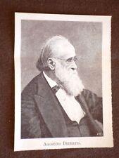 Deputato nel 1° Parlamento d'Italia del 1848 Agostino Depretis