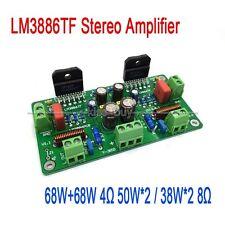 Assembled 68W+68W HiFi LM3886TF Stereo Amplifier AMP Board 50W*2 / 38W*2