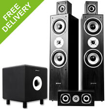 5.1 Surround Sound Speaker System Active Sub Home Cinema Hifi Package 1350W