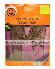 HALLOWEEN Easy To Decorate CREEPY CLOTH DECORATION Great For Parties GRAY New!