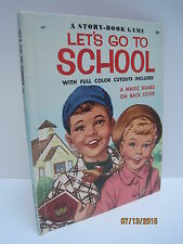 Let's Go To School: A Vintage Story-Book Game by Annette Edwards