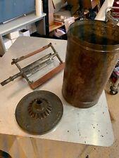 Vintage 1800s Hand Crank Ice Cream Maker Freezer