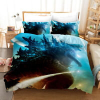 3D Monster Godzilla Quilt Cover Duvet Cover Comforter Cover Single/Queen/King645