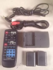 Canon WL-D77 Wireless Remote Control. Battery Charger CB-2LT Cables Audio