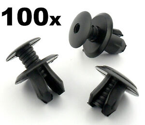100x VW Volkswagen T4 T5 Transporter Eurovan Black Trim Panel Lining Clips