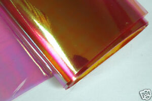 10x25cm ICE Film  Montage/ Dubbing - Rouge / Red  fly tying