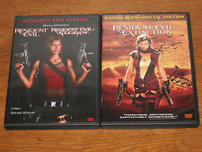 Resident Evil Trilogy 1 2  3 (DVD, 3-Disc Set) Milla Jovovich ZOMBIES