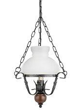 Huile rustique Lanterne plafonnier pendentif rustique métal bois & style pays