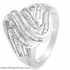"""""""WOW"""" .80 ctw DIAMOND BAGUETTE RING **COMPARE:$3,039.00"""