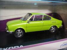 SKODA Coupe 110R 110 R 1970 - 1976 spring hell grün green NEU NEW Abrex 1:43
