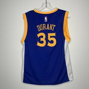 Youth Adidas Kevin Durant Golden State Warriors Royal Swingman Jersey L