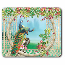 Computer Mouse Mat - 3D Flowery Peacock Illustration Office Gift #21058