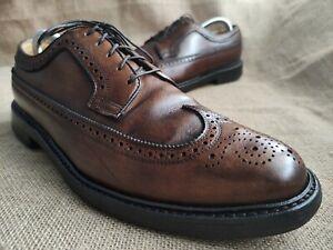FLORSHEIM IMPERIAL Men's Brown Leather Wingtip Derby Shoes Size US 10 D