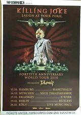 KILLING JOKE – TURBOWOLF 2018 TOUR - orig.Concert Poster - Konzert Plakat A1 NEU