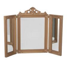 75cm Bronze 3 Mirror Bedroom Makeup Desk Home Dressing Table Chic Vanity Stand