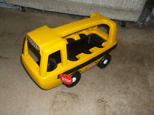 Little Tikes Big Yellow School Bus With Stop Sign - Made In U.S.A. - No Figures