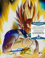 CHRIS SABAT SIGNED VEGETA 8x10 PHOTO DRAGON BALL Z AUTOGRAPH H BECKETT BAS COA