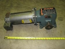 BALDOR 90 volt DC electric gear motor with DODGE 200 TIGEAR 200-3 ratio