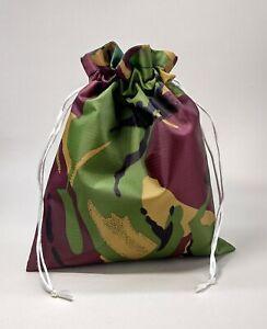Mens Boys Camouflage Waterproof Drawstring Sponge Bag Wash Bag Travel Toiletries