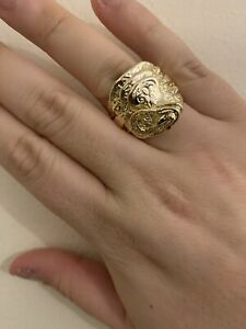 New Men's Boys Teenager 18ct Gold Plated Saddle Ring Solid Adjustable Sizes