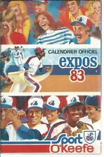 MLB Baseball MONTREAL EXPOS Old Schedule Calendar Calendrier 1983 Sport O'Keefe