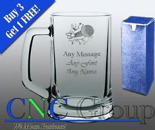Personalised Engraved Glass Tankard Golf Award Trophy Tournament Gift