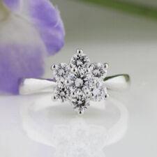Beautiful Round Cut 1.08 Ct 14K White Gold Diamond Wedding Engagement Ring M N
