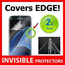 Samsung Galaxy S7 Edge invisible escudo protector De Pantalla Grado Militar x2 Paquete