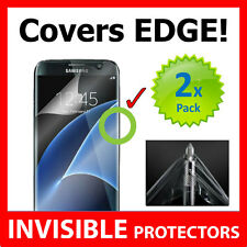Samsung Galaxy S7 Edge INVISIBLE Screen Protector Shield Military Grade x2 PACK