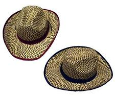 12 COLORED ZIG ZAG STRAW COWBOY HAT #111 wholesale bulk lot unisex western hats