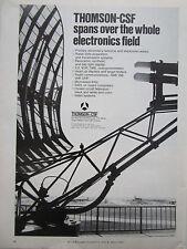4/1973 PUB THOMSON-CSF AVIATION EQUIPMENT RADAR RADIO VHF UHF ILS ORIGINAL AD