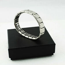 SILVER- Titanium Health Bracelet Power Nano Energy Germanium Magnetic New