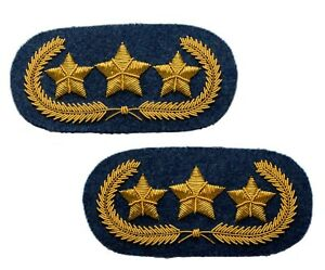 Confederate Officers Collar Insignias in Pair, Wire Bullion embroidered GIE02