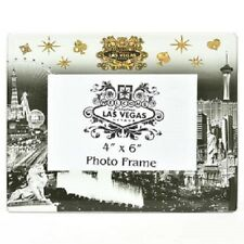 Las Vegas Strip Sign Picture Frame Casino Hotel Photo Glass Black White Gold MGM