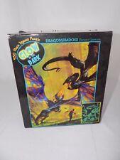 550 piece glow in the dark jigsaw puzzle CEACO dragonshadow 24 x 18