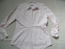 MARC O POLO schöne weiß rosa gestreifte taillierte Bluse Gr. 44 TOP 618