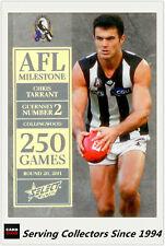 2012 Select AFL Champions Milestone Card MG14 Chris Tarrant (Collingwood)