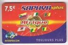 FRANCE TELECARTE / PHONECARD PREPAYEE .. 7€50 IFC SAPHYR AFRIQUE 12/07 +N°