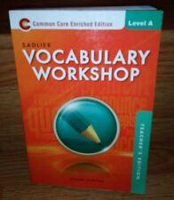 Sadler Vocabulary Workshop 2013 Level A Common Core Enriched Edition Shostak