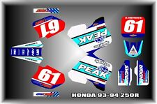 Honda CR125 93-94 CR250 92-94 SEMI CUSTOM GRAPHICS KIT PEAK