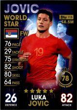 Topps Match Attax 101 - Luka Jovic Serbia (World Stars) No. 115