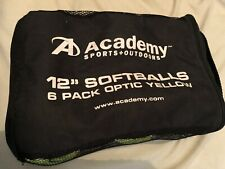 New listing Optic Yellow Official Softballs And Pouch (6-pack)
