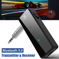 Wireless USB Bluetooth 5.0 Audio Transmitter Receiver 2in1 Adapter For TV PC Car