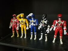 """Power Rangers 1993 8"""" Action Figures Set Of All 5 Complete blaster lot legacy"""